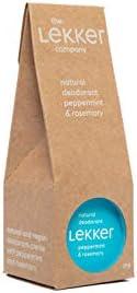 The Lekker Company - Vegan Natuurlijke Deodorant Creme - Pepermunt & Rozemarijn - Super effectief tegen ge