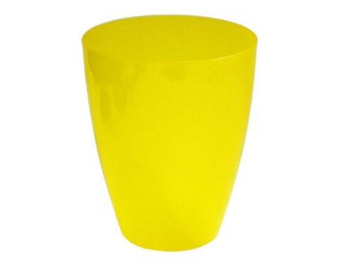 Lot de 5 pots de fleurs plastiques balcon maison H 165 mm Diam. 133 mm jaune