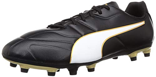 Puma CLASSICO C II FG, Herren Fußballschuhe, Schwarz (Puma Black-Puma White-Gold 1), 46 EU