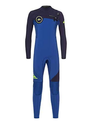Quiksilver 4/3mm Syncro Series - Chest Zip GBS Wetsuit for Boys 8-16 - Jungen 8-16 (3 4 Syncro Neoprenanzug)