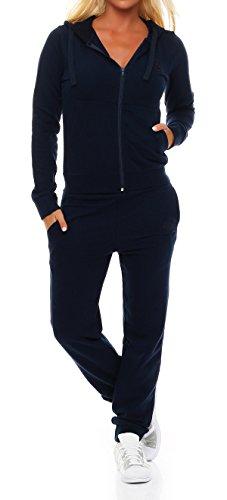 Gennadi Hoppe Damen Jogginganzug Trainingsanzug Sportanzug, blau,3XL