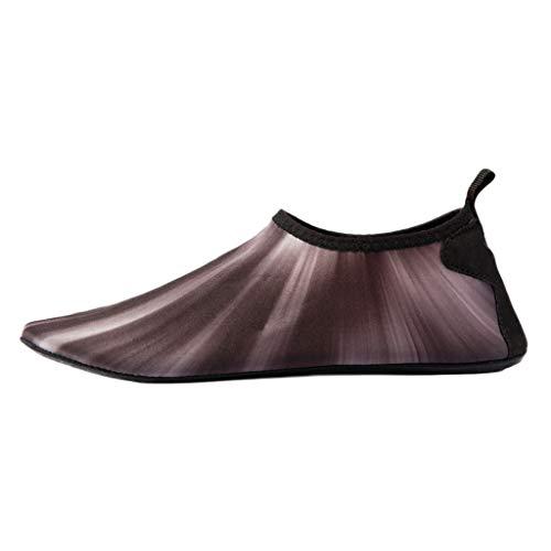 Xmiral Wasserschuhe Schwimmschuhe Unisex Trocknend Wasserdicht Aqua Schuhe für Pool Surfen Yoga rutschfest Wassersport Aquaschuhe Badelatschen(Grau,37-38 EU) -