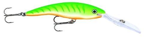 Rapala Deep Tail Dancer 9 Fishing Lure, Green Tiger UV, 3-1/2-Inch by Rapala