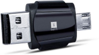 iball Hybrid Dual USb Card Reader 2 in 1 USE AS A CARD READER , USE AS PENDRIVE