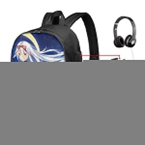 Moon Cool Girl College Rucksack Student Bookbag Laptop Busin Rucksack mit USB-Ladeanschluss School Daypack
