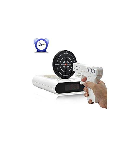 Infrarot Wecker mit Pistole und Clay weiß
