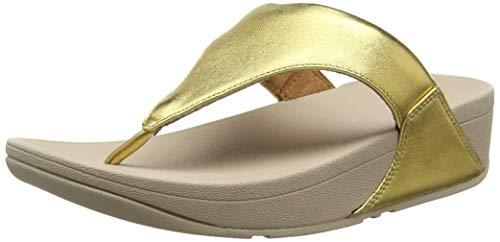 FitFlop Damen Lulu Toe Post - Leather Sandalen, Artisan Gold 667, 40 EU - Contour Thong