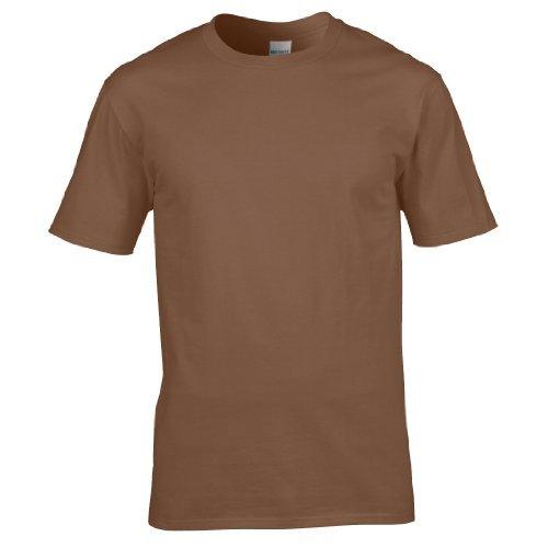 Gildan Premium T-Shirt für Männer (XL) (Kastanie) XL,Kastanie (Baumwolle Braun Shirt)