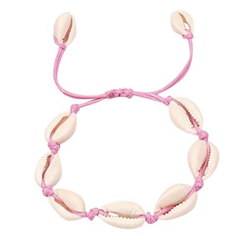 Sunday Muschel Armbänder Damen Handgemachte Natürliche Stricken Frauen Armband Muscheln Armbänder Boho Bracelet Zubehör