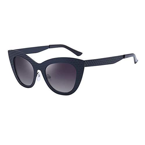 Mxssi Damen Sexy Cat Eye Sonnenbrille Metall UV400 Vintage Frauen Cateye Sonnenbrille Weiblichen Schatten C6
