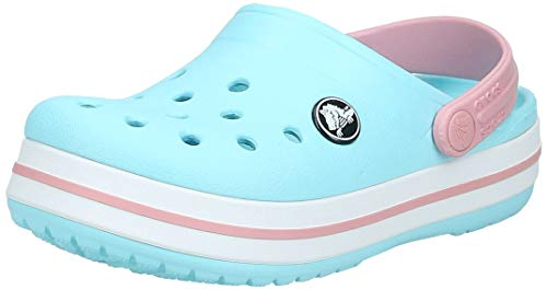 Crocs Crocband Clog Kids, Unisex-Kinder Clogs, Blau (Ice Blue/white), 28/29
