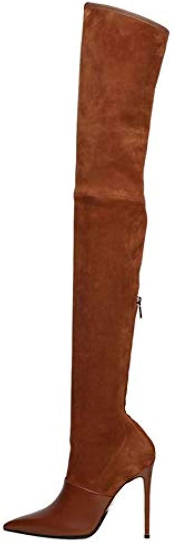 ¥Shoes Femmes À Talons Hauts Du Pointues Genou Épaisses Des Bottes Élastiques Pointues Du Bottes NuesB07K42CYHQParent 5c7c36