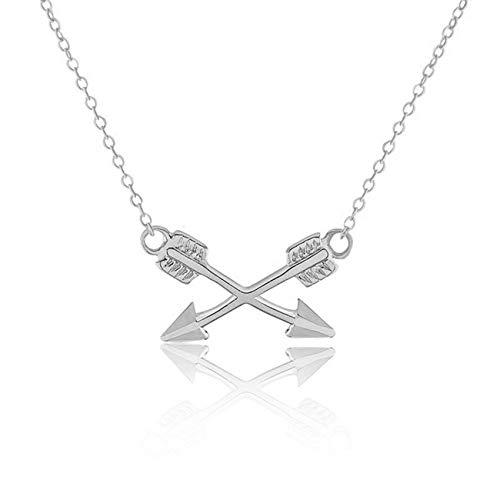 AAMOUSE Damenhalskette TrendyCross Arrows Reminderfür Frauen NewColor ArrowLadies 's Sweat Chain