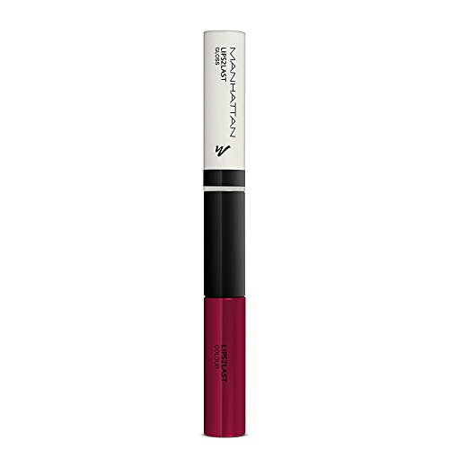 Manhattan Lips2Last Colour und Gloss, Farbe 48L,  vintage berry, 1er Pack (1 x 8 ml)