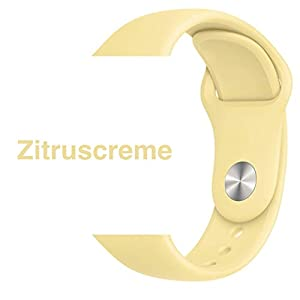Armband für Apple Watch in Zitruscreme 38/40mm passend für Apple Watch 1 2 3 4 5