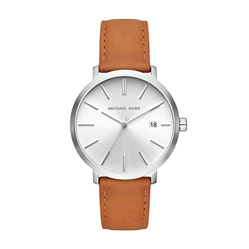 Michael Kors Mens Analogue Quartz Watch with Leather Strap MK8673