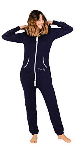 Moniz Damen Jumpsuit, dunkelblau, Größe L