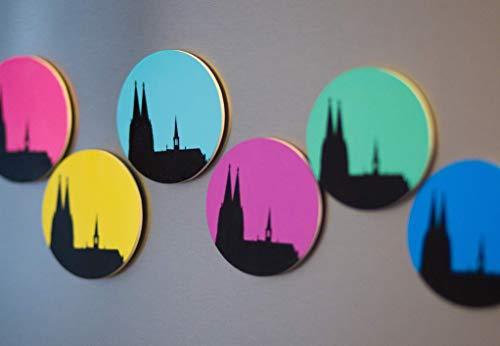 6 Köln-geschenk-set (Design-Magnet Set 6 Stück (6,3cm, rund)