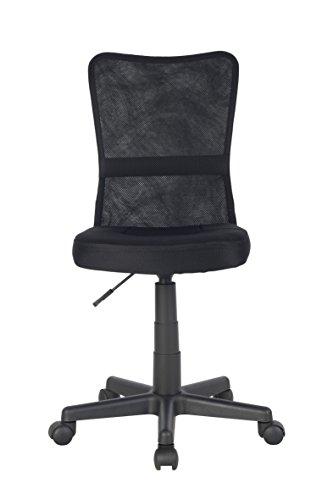 SixBros. Bürostuhl Drehstuhl Schreibtischstuhl Schwarz – H-298F/2064 - 3