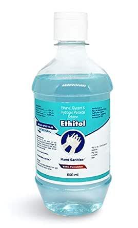 Ethitol Hand Sanitizer - 500 ml | 80% Alcohol | W.H.O. Formulation
