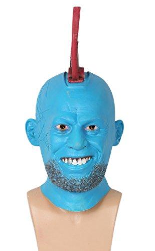 Halloween Maske Cosplay Kostüm Erwachsene Voll Kopf Fin Latex Maske Fancy Dress Helm Zubehör (Kostüm Helm Star Lord)