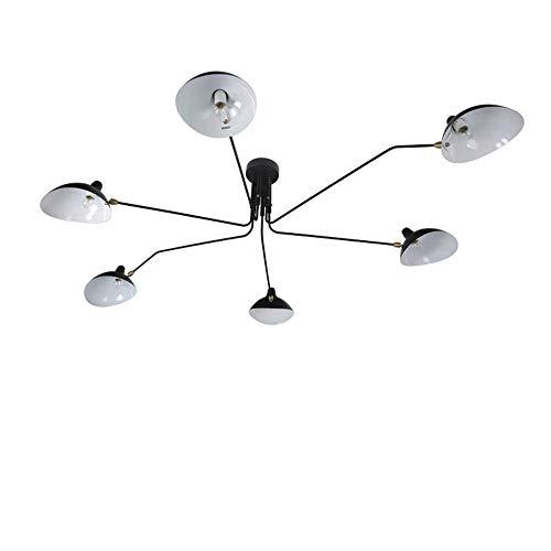 Luz Decorativa Colgante de Moda, Lámpara de Estilo Nórdico Serge Mouille Dientes Garras de Baile Diseño Iluminación Lámpara de Techo Moderna, ChuanHan