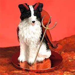 Border Collie Little Devil Dog figurine