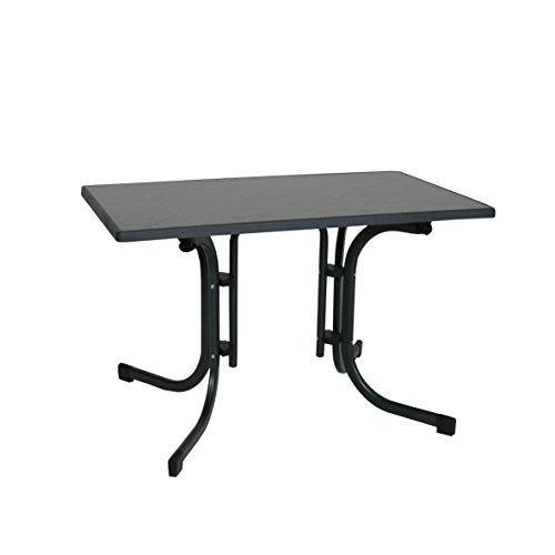 Ribelli Klapptisch Esstisch Gartentisch 110x70x70cm - klappbarer Tisch für den Garten, als Beistelltisch oder Campingtisch mit Niveauregulierung witterungsbeständig Farbe:(anthrazit)