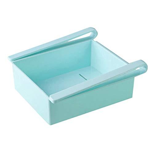 Sulifor Kühlschrank Aufbewahrungsbox, Slide Kitchen Kühlschrank mit Gefrierfach Space Saver Organizer Ablagefach