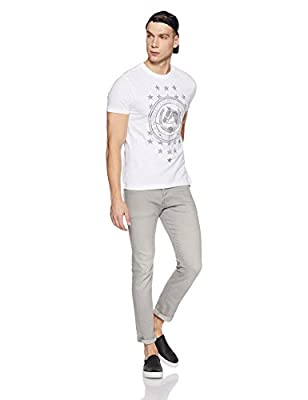 US Polo Association Men's Checkered Regular Fit T-Shirt
