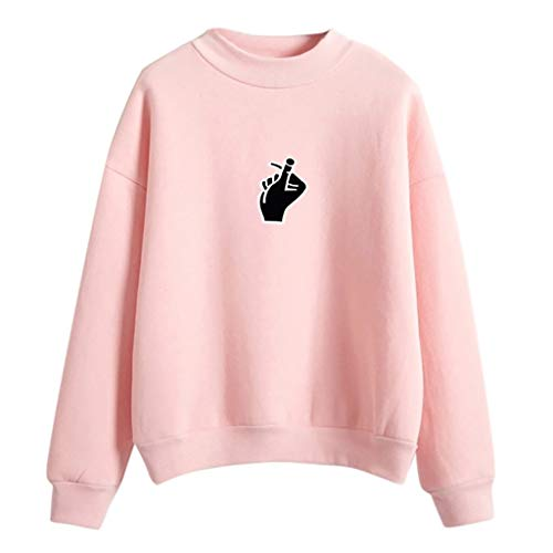Sonnena Damen Mode Rundhals Finger Gedruckt Langarm Sweatshirt Slim fit Sweatjacke Pullover T-Shirt Outwear Männer Langarm Sweatshirts Jacke Mantel Outwear Tops Street Wear