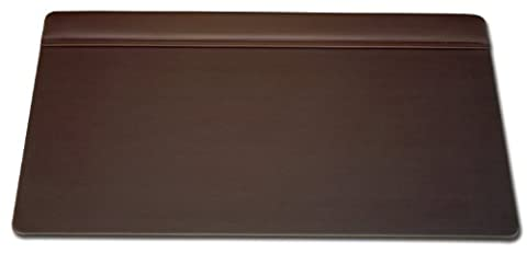 Dacasso Leather Top-Rail Desk Pad, Chocolate Brown, 34 x 20-Inch