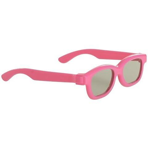 3 Pares de gafas 3d pasivas universales para los niños rosados en color para todos TV y cine
