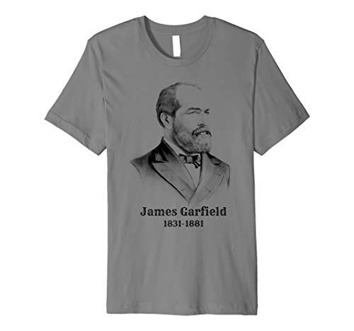 James Garfield T-Shirt. Vintage American Präsidenten Tee
