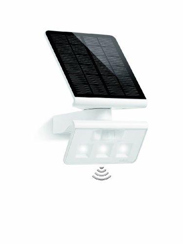Steinel LED Solar-Leuchte XSolar L-S weiß, 140° Bewegungsmelder, 8 m Reichweite, ideal für Garten, Terrasse und Hauswand