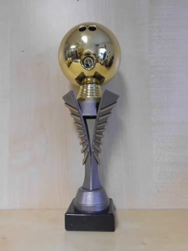 Fanshop Lünen Bowling - Bowlen - Kugel (Gold) - Pokal - Turnier - Kinder - Figur - Sporttrophäe - Trophäe - Geburtstag - (a307) -