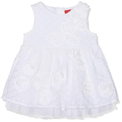 s.Oliver Baby-Mädchen 59.902.82.5262 Kleid, Weiß (White 0100), (Herstellergröße: 92) -
