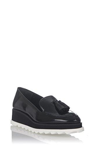 Laura Moretti Damen Bugy Shoes Halbschuhe Schwarz
