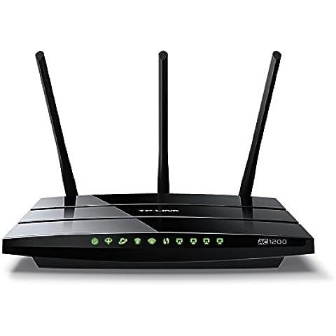 TP-Link Archer VR400 Modem Router ADSL/VDSL (Fibra) AC1200, Wi-Fi Dual Band 1.2 Gb, Supporto 3G/4G Backup tramite Dongle USB, 3 Porte LAN + 1 Porta LAN/WAN, USB 2.0, CPU Broadcom, Smartphone App Tether (Android,iOS)