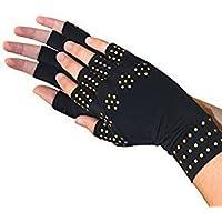 RENZE Magnetfeldtherapie Handschuhe Half Finger Magnetfeldtherapie Handschuh, ein Paar (Schwarz) preisvergleich bei billige-tabletten.eu