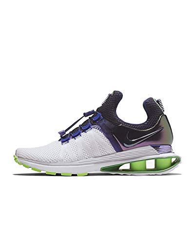 NIKE Women's Shox Gravity Running Shoes-White/Fusion Violet-6.5 (Shox Womens Shoes)