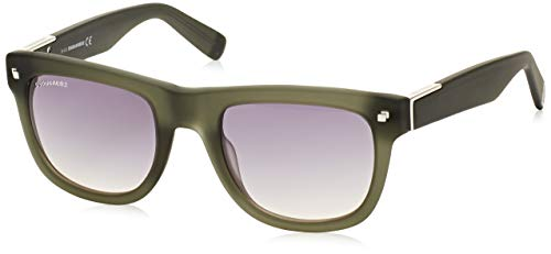 Dsquared2 wayfarer eye, occhiali da sole uomo, verde, 51