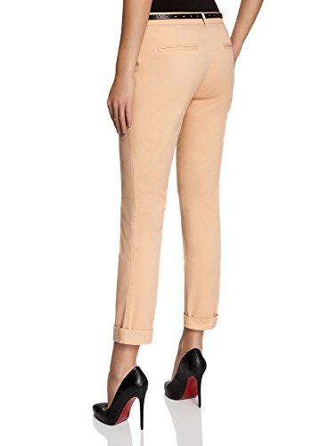 oodji Ultra Donna Pantaloni Chino con Cintura Beige (3300N)