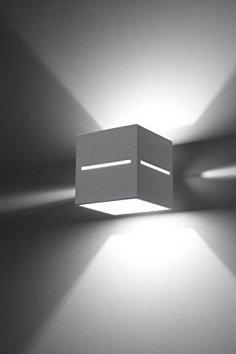 Bauhaus-Lámpara de pared (Diseño hogar, Blanco, rectangular pantalla) Interior Hotel lámpara de piso Lámpara Lámpara De Pared