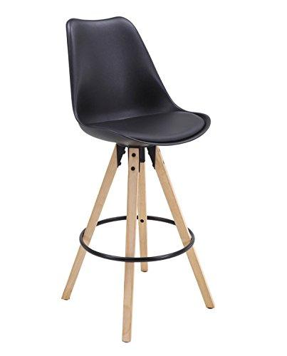 Bar Chaise de Kayelles Tabouret Design Cleo Bar de en Scandinave piétement chêneNoir R34qjc5LSA