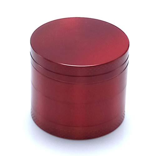 Lazder 4 colores 40 mm 4 capas de aleación de zinc brillante color sólido cigarrillo tabaco molinillo cilíndrico manivela herbal especias triturador triturador regalo medium rosso