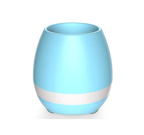 huiayng Bluetooth Lautsprecher Smart Musik Blumentopf Kann Klavier Musik Blumentopf Bluetooth Lautsprecher Spielen Blau (Klavier-musik-iphone 6 Fall)