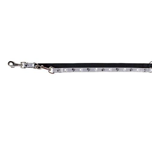 Trixie 12214 Silver Reflect V~Leine, XS-S: 2,00 m/15 mm, schwarz/silbergrau