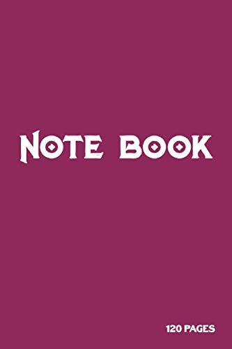 Notebook: Amaranth deep purple color cover and White title (6 x 9 inches) - 120 Clear Pages with page numbers | Clear Pages Notebook / Journal