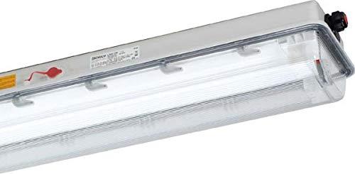 Schuch Licht Ex-Wannenleuchte e840136 T26 1x36W EVG e840 Explosionsgeschützte Leuchte Festmontage 4041254204901 - Explosionsgeschützte Leuchten
